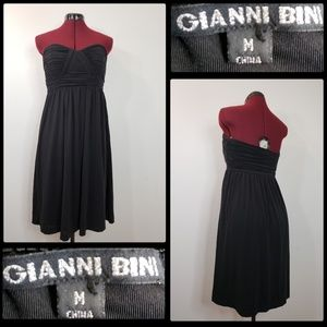 gianni bini woman black strapless dress medium